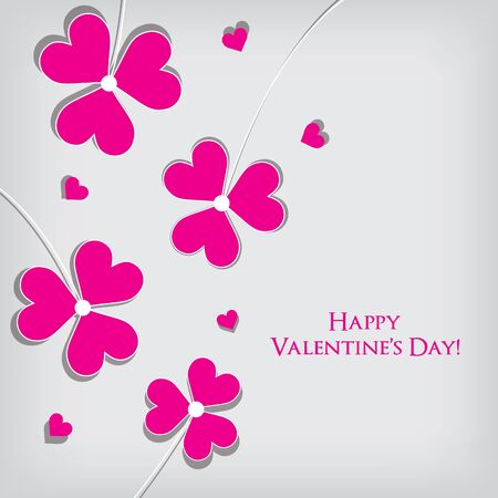 Valentine's Day Greeting Card   Vector background Stock Vector - 17315841