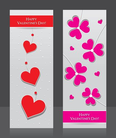 Valentine's Day Greeting Card   Vector background Stock Vector - 17315842
