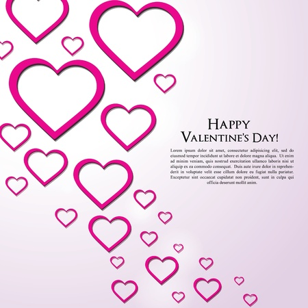 Valentine's Day Greeting Card background Stock Vector - 17447074