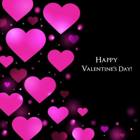 Valentinstag Grußkarte Hintergrund Standard-Bild - 17447079