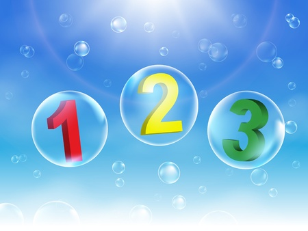 Number Bubbles vector illustration Stock Vector - 17667810