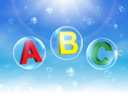 Alphabet Bubbles vector illustration Stock Vector - 17667809