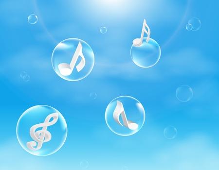 歌: 音楽の泡ベクトル イラスト