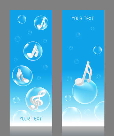 new age music: Musical Bubbles vector illustration