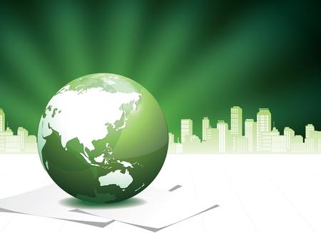 wereldbol groen: Green Globe illustratie