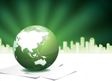 Green Globe illustration