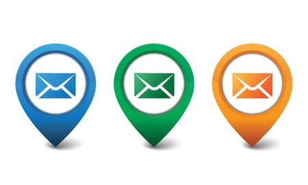 sms icon: 3D email icon design vector illustration Illustration