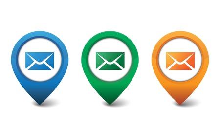 3D email icon ontwerp vector illustratie