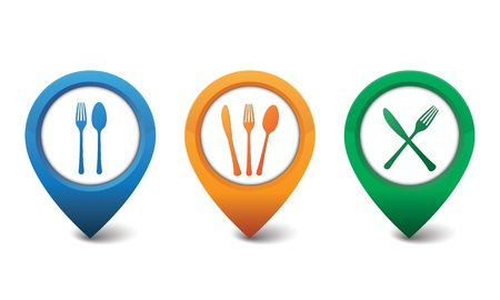 3D restaurant icon design vector illustration Vector