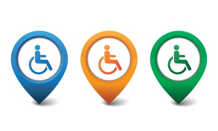 wheelchair access: 3D Handicapped icon vector illustration Illustration