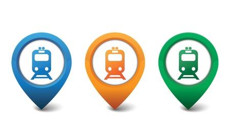 Train icon illustration Vector