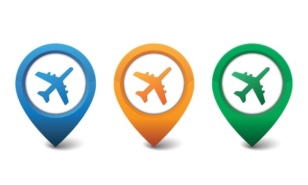 mileage: Airplane icon illustration