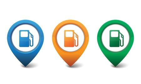 nozzle: Gas pump icon illustration Illustration