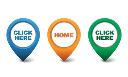 Home, Click Here icon design vector illustration