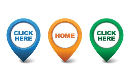 Home, Click Here icon design vector illustration