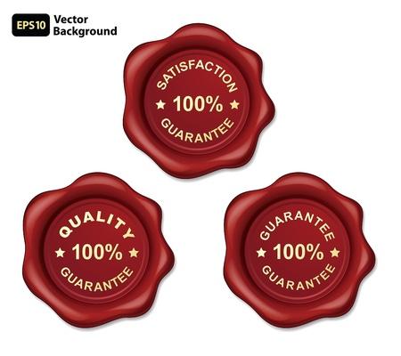 100  guarantee gold wax seal