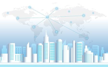 City landscape vector illustration  Vector