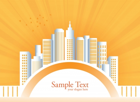 City landscape vector illustration  Illustration