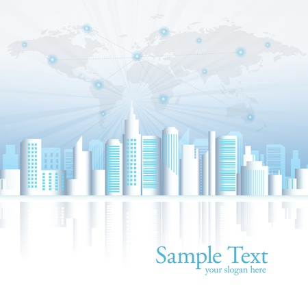 City landscape vector illustration  Vector
