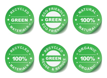 Green stickers illustration Stock Vector - 20412303