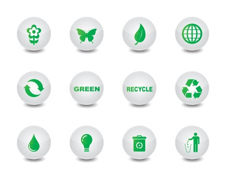 Green icons Stock Vector - 20412305