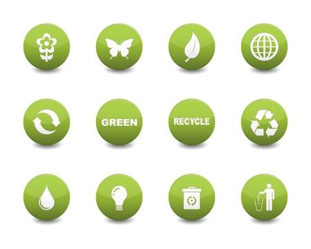 Groene iconen Stock Illustratie
