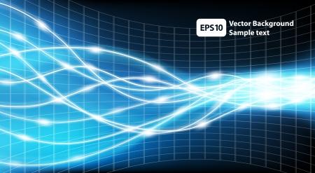 elektriciteit: Abstracte technologie achtergrond Vector Illustratie Stock Illustratie