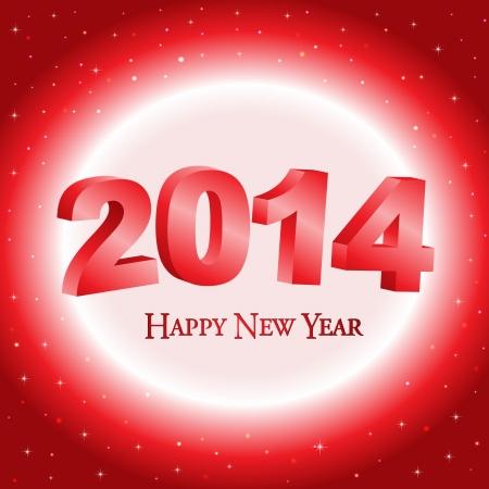 Happy New Year 2014 celebration background  Illustration