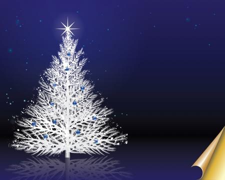 paper curl: Navidad de fondo Holiday ilustraci�n vectorial con papel opcionales Vectores enrollamiento est�n en capas para facilitar la edici�n y cambios Vectores