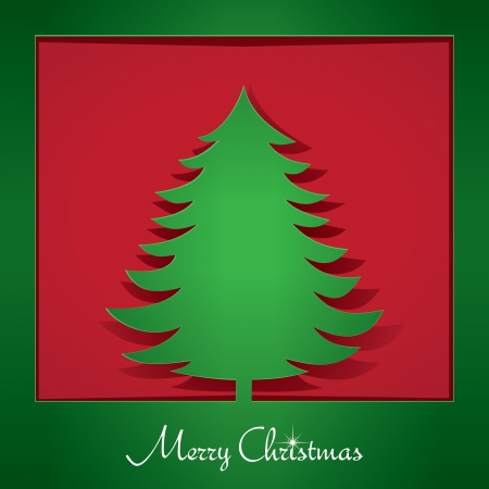 Stylish Holiday Paper Christmas Tree Design vector illustration Vector