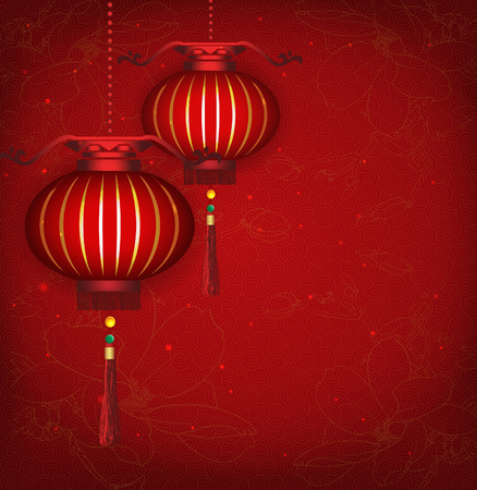 Chinese New Year Lantern Background    Vector illustration are layered for easy editing and changes  Vector