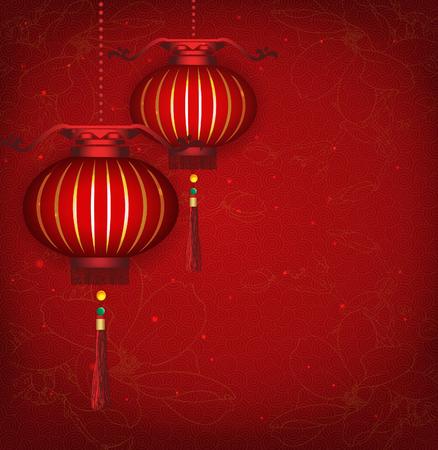 Chinese New Year Lantern Hintergrund Vektor-Illustration für die einfache Bearbeitung und Änderungen geschichtet Standard-Bild - 23476865