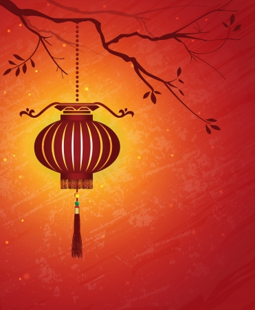 Chinese New Year Lantern Background Stock Vector - 23476888