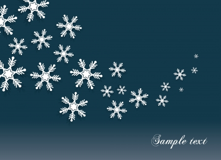 Abstract snowflakes background with a space for text  Ilustração