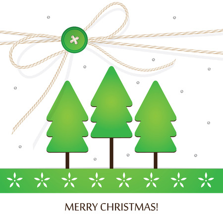 Stylish Christmas holiday design with handcraft theme vector illustration Vector