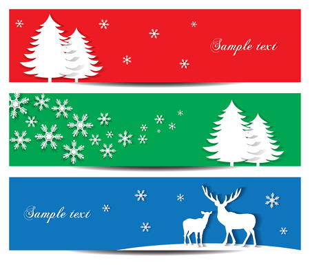 Stylish Christmas holiday banner design vector illustration Vector