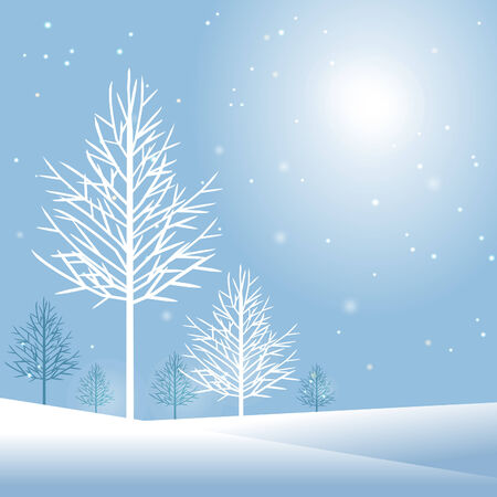 blizzard: Stylish winter holiday design with copy space vector illustration