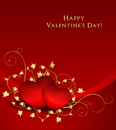 Elegant Valentine Day's Background Vector