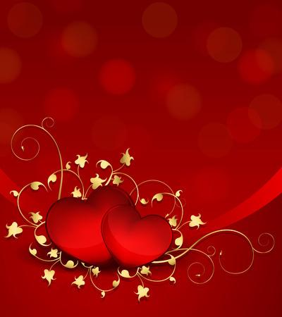 Elegant Valentine Days Background 向量圖像