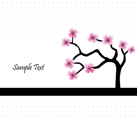 halftones: Cherry Blossom Abstract Background Illustration