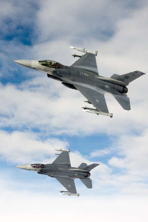 US Air Force F-16 Vipers fly over Italy. Editorial