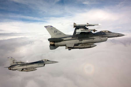 domination: US Air Force F-16 Vipers fly over Italy. Editorial
