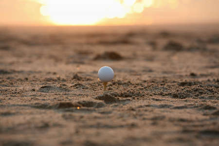 sunset golf Stock Photo - 487643