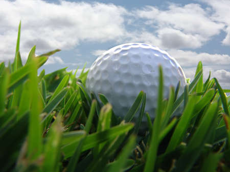 golf ball with clouds Stock Photo - 487617