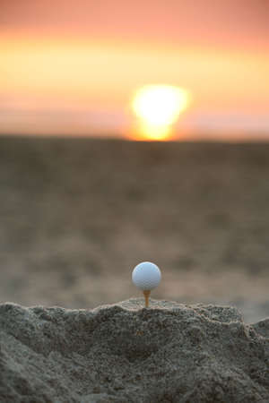 Sunset golf portrait Stock Photo - 497189