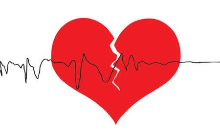 mujer estres: coraz�n roto