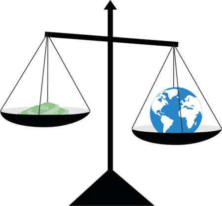 distant: money and globe