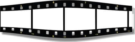35mm: film strip perspective front