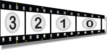 film strip with numbers perspective