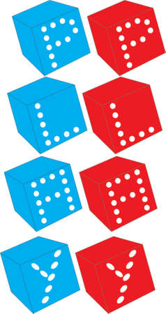 dices with play text Vector